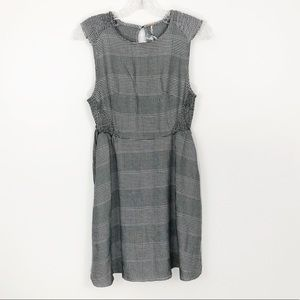 Free People Houndstooth Plaid Fit & Flare Dress S